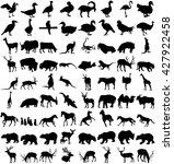 vector big set of animals... | Shutterstock .eps vector #427922458