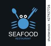 seafood shop logo vector set of ... | Shutterstock .eps vector #427927726