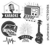 set of karaoke and music labels ... | Shutterstock . vector #427930486