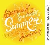 hand drawn summer  illustration.... | Shutterstock .eps vector #427931674