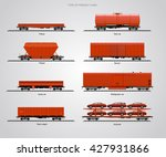 the type of freight cars. the... | Shutterstock .eps vector #427931866