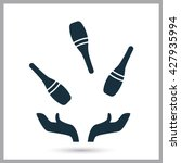 juggling pins icon on the... | Shutterstock .eps vector #427935994