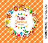 festa junina village festival... | Shutterstock .eps vector #427937323
