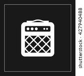 guitar amp icon. guitar amp... | Shutterstock .eps vector #427940488