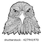 the black and white eagle print ... | Shutterstock .eps vector #427941970
