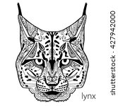 the black and white lynx print... | Shutterstock .eps vector #427942000