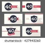 vector collection of 40th... | Shutterstock .eps vector #427943260