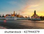 grand palace and wat phra keaw... | Shutterstock . vector #427944379