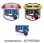 set of boxing emblems  labels ... | Shutterstock .eps vector #427955566