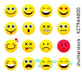 set of emotional bright yellow... | Shutterstock .eps vector #427964800