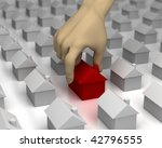 3d image of a hand picking a... | Shutterstock . vector #42796555