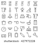 set of vector web icons line... | Shutterstock .eps vector #427972228