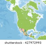 united mexican states map | Shutterstock .eps vector #427972993