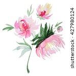 abstract watercolor peon... | Shutterstock . vector #427980124