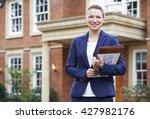 portrait of female realtor... | Shutterstock . vector #427982176