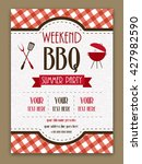 barbecue template or menu... | Shutterstock .eps vector #427982590