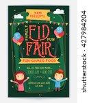 styish eid fair flyer  eid... | Shutterstock .eps vector #427984204