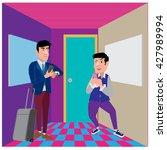 businessman illustration in the ... | Shutterstock .eps vector #427989994