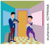 businessman illustration in the ... | Shutterstock .eps vector #427990468