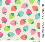 colorful strawberry seamless... | Shutterstock .eps vector #427993378