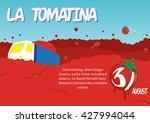 la tomatina poster  tomato... | Shutterstock .eps vector #427994044