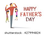 happy father day holiday ... | Shutterstock .eps vector #427994824