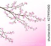 Cherry Blossom. Pink Sakura...