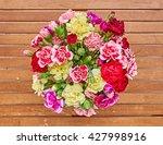 colorful carnation flowers... | Shutterstock . vector #427998916