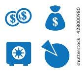 dollar market share icons | Shutterstock .eps vector #428000980