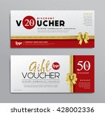 gift voucher templates with... | Shutterstock .eps vector #428002336