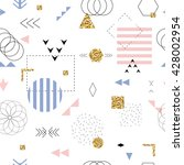 geometric seamless pattern... | Shutterstock .eps vector #428002954