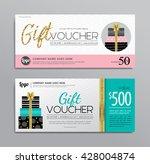 gift voucher  | Shutterstock .eps vector #428004874