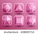 pink jewel shapes collection  ... | Shutterstock .eps vector #428005714