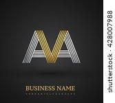 letter aa or ava linked  letter ...   Shutterstock .eps vector #428007988