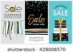 sale banners design with gold... | Shutterstock .eps vector #428008570