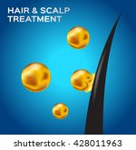 hair   scalp treatment vector ... | Shutterstock .eps vector #428011963