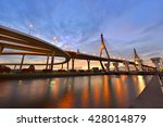 the bhumibol bridge also known... | Shutterstock . vector #428014879