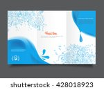 tree fold business brochure... | Shutterstock .eps vector #428018923