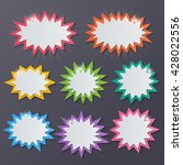 set of blank colorful paper... | Shutterstock .eps vector #428022556