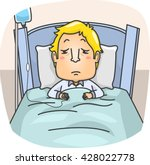 illustration of a sick man... | Shutterstock .eps vector #428022778