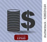 Stack Of Coins Icon Vector...