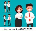 set office characters. business ... | Shutterstock .eps vector #428025370