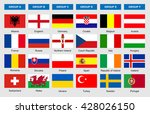 flags of football teams  vector ...