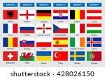 flags of football teams  vector ... | Shutterstock .eps vector #428026150
