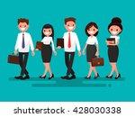 business partners go together.... | Shutterstock .eps vector #428030338