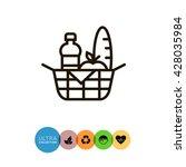 picnic basket   Shutterstock .eps vector #428035984