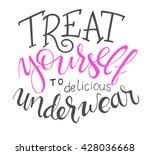 vector hand lettering quote  ... | Shutterstock .eps vector #428036668