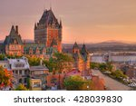 frontenac castle in old quebec... | Shutterstock . vector #428039830