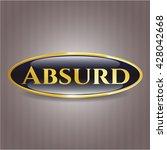 absurd golden badge