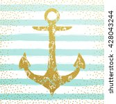 Gold Anchor Background With...